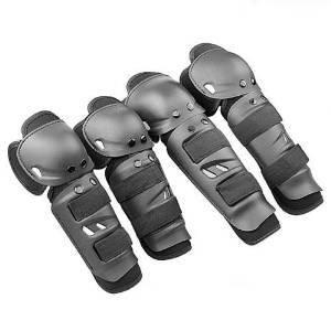 Fahrrad Motorrad Motocross Mountain Bike MTB Extreme Sports Knie + Ellenbogen Pads Anatomischer Gear Safeguard Armor Schutzhülle Hard-Set W/verstellbares Gummiband schwarz
