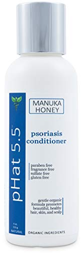 Deep Moisturizing Conditioner for Psoriasis - Natural and Organic Dry and Itchy Scalp Treatment with Coconut Oil and Manuka Honey - Sulfate & Paraben Free Conditioner and Dandruff Treatment (4 oz) ()