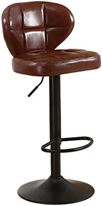 バーカウンターチェア回転バーカウンターチェアメタルスツール高さ調節バーチェアーレストランカフェに最適レストランバービストロラウンジサロン (Color : Brown)