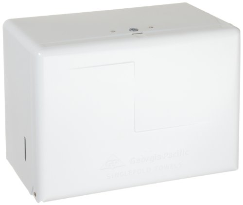 Georgia-Pacific 567-01 White Steel Singlefold Towel Dispenser, 11.625
