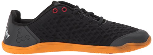 Women's VivoBarefoot Black Shoe Road Iconic 2 orange Stealth Black Running Orange fdzBrdq