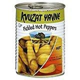 Kvuzat Yavne Pickled Hot Peppers No Food Coloring KFP 19 Oz. Pk Of 6.