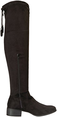 Madden Girl Womens Prissley Over The Knee Boot, Black Fabric, 11 M US