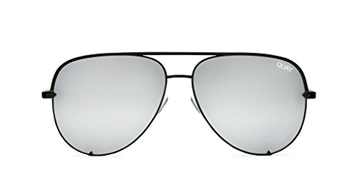 Quay X Desi High Key Mini Sunglasses (Black, - Key Black High Fade
