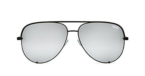 Quay X Desi High Key Mini Sunglasses (Black, - Aviator Mini Sunglasses