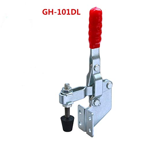 Ochoos 180kg Holding Capacity Handle Vertical Type Quick Release Tool Toggle Clamp GH-101-DL - (Size: 4PCS)
