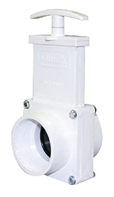 "Valterra 6207 PVC Gate Valve, White, 2"" FPT by Valterra Products"