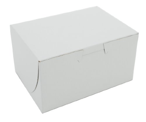 Non Lock Window Corner (Southern Champion Tray 0900 Premium Clay Coated Kraft Paperboard White Non-Window Lock Corner Bakery Box, 5-1/2 Length x 4