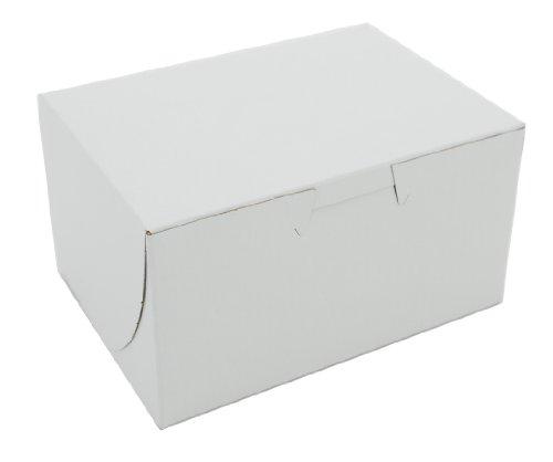Non Window Corner Lock (Southern Champion Tray 0900 Premium Clay Coated Kraft Paperboard White Non-Window Lock Corner Bakery Box, 5-1/2 Length x 4