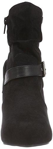 Bruno Banani Stiefelette - botas de terciopelo mujer negro - Schwarz (Black 008)