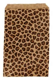 888 Display USA - 200 Cheetah Leopard Print Paper Bag Gift Bag Merchandise Bag (5