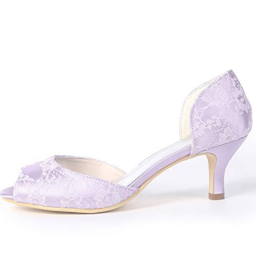 De L Tacones High Zapatos FY119 Boda Toe YC Las Plataforma Ivory amp; Mujeres 6cm Peep De Party De Encaje Evening Heels fSSIrq