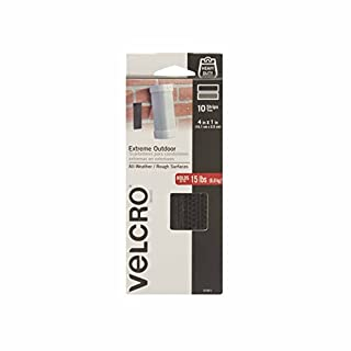 VELCRO Brand - Industrial Strength Extreme Outdoor   Heavy Duty, Superior Holding Power on Rough Surfaces   10 Stripes   4in x 1in   Black (B00JJPPMO6)   Amazon Products