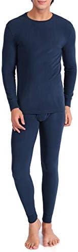 DAVID ARCHY Men's Warm Base Layer Top & Bottom Fleece Lined Long John The