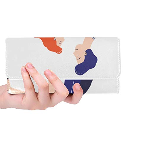 Unique Custom Young Romantic Two People Dancing Lindy Women Trifold Wallet Long Purse Credit Card Holder Case Handbag (Boogie Woogie Best Dance Performance)