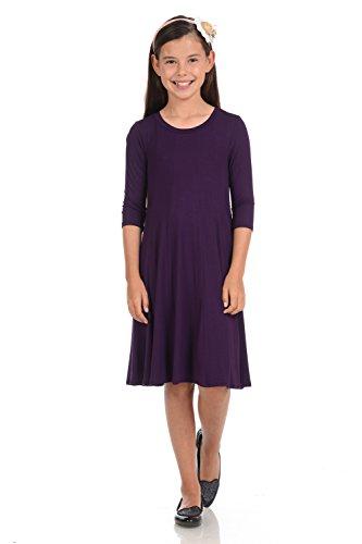 Pastel by Vivienne Honey Vanilla Girls' A-Line Trapeze Dress Medium 7-8 Years - Sale Purple For Honey