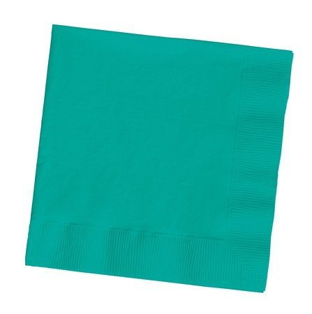 100 gorgeous Teal Lagoon lunch/dinner napkins for wedding/party/event, 2ply, disposable, Large Size 6.5