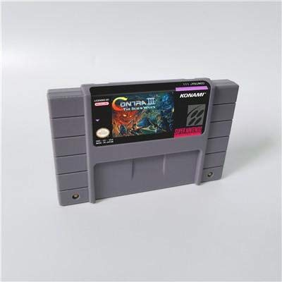 Game card - Game Cartridge 16 Bit SNES , Game Contra III The Alien Wars - Action Game Card US Version English Language (Video Game Contra)