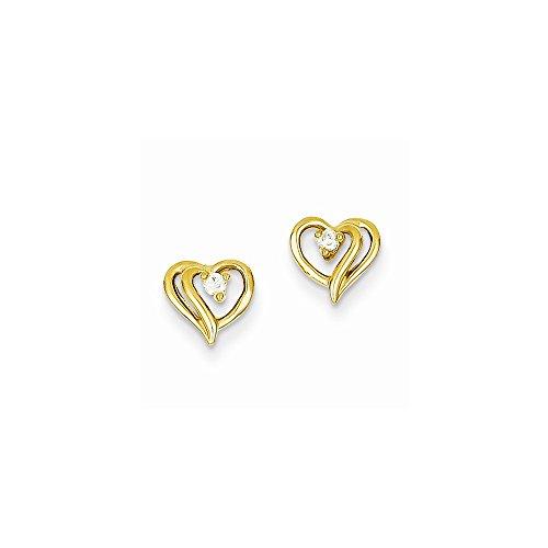 Diamond Aa Earring Heart (14k AA Diamond Heart Earrings)