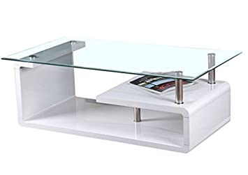 White Curva Glass Coffee Table Perfect Coffee Tables For Any Hallway Living Rooms