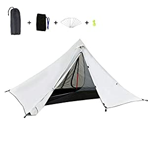 KH3S Oudoor Ultralight Camping Tent Double Layer Waterproof Backpacking Tent Outdoor Hiking Tent for Fishing Hunting Travel Beach (3)