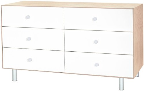 Oeuf Merlin 6 Drawer Dresser with Classic Base- Birch