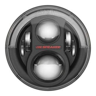 Led Black Bezel - JW Speaker LED Headlights, Model 8700 Evolution J2 Series with Black Bezel, Set of 2