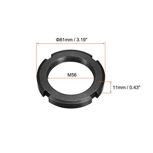 2 Pieces M56x2.0mm retaining Four Slotted Slotted Nuts