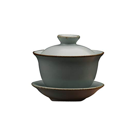 - DehuaYao Chinese Traditional RU Ware Porcelain Gaiwan Ceramic Cup(Tea Cup Comprised of Cup, Saucer and Lid )