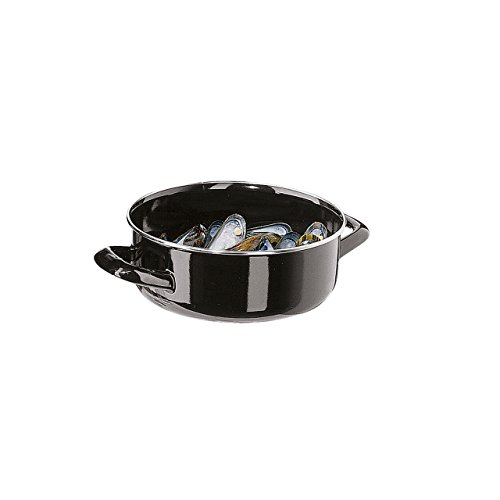 VEGA Cookware-Mussel Pot with lid, Keeps the mussels warm until serving, Heat Resistant . (Small) (Shop Mussels)