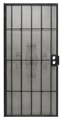 PRECISION SCREEN & SECURITY PROD 3818BK3068 Regal Series Black Steel Security Door, 38-1/2