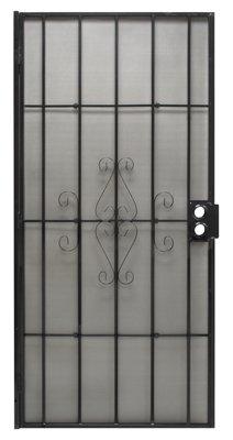 PRECISION SCREEN & SECURITY PROD 3818BK3068 Regal Series Black Steel Security Door, 38-1/2''W x 81-1/2''H
