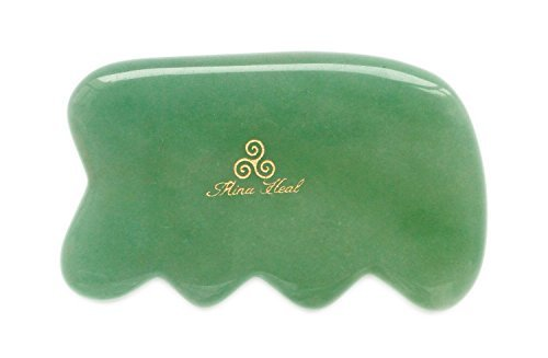 Massage Tool Made of Jade Stone, for Face Lifting, Anti-aging, Anti-wrinkles, Gua Sha Treatment - Jade Stone Massage