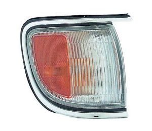 Passenger Park Signal Marker Light Lamp (with Chrome Trim, up to 12/1998) Replacement for Nissan 96 - 99 Pathfinder NI2551129