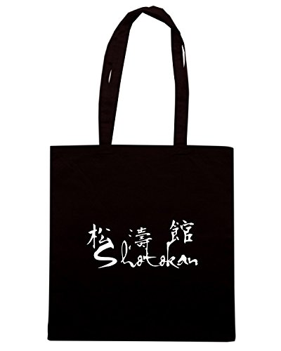 T-Shirtshock - Bolsa para la compra TAM0162 shotokan dark tshirt Negro