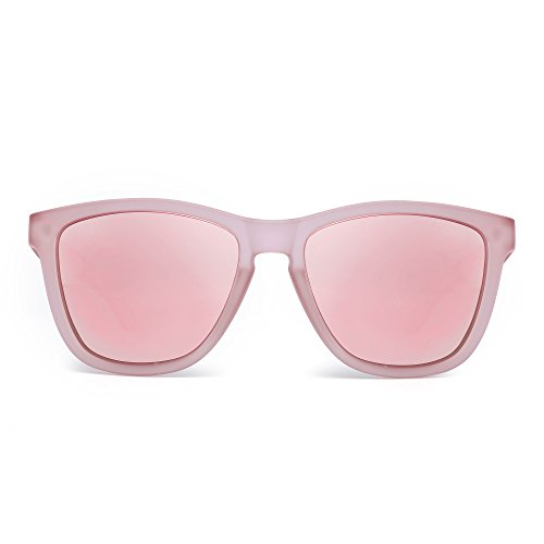 Rosa Sol Transparente Reflexivo Espejo Lente Retro de Polarizado Mujer Rosa Anteojos Hombre Polarizadas Espejo Gafas 5qwavxPHn