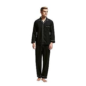 Men's 100% Cotton Pajama Set, Long Sleeve Woven Sleepwear from Tony & Candice