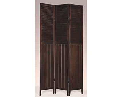 Amazoncom 3 Panel Wood Room Divider Kitchen Dining