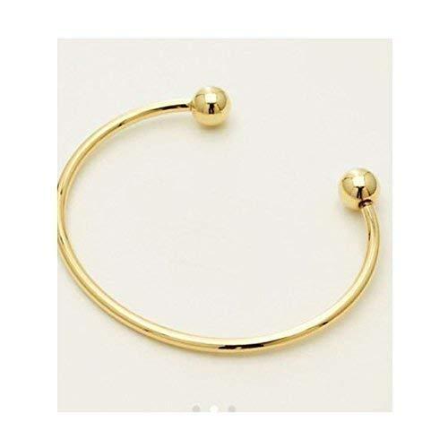 14k Solid gold Open Circle Bangle Bracelet