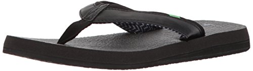 Sanuk Women's Yoga Mat 2 Flip-Flop, black, 07 M US