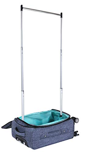 Mavii Costume Rack Carry-On Luggage with Spinner Wheels, Gray