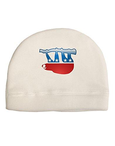 Tooloud Sloth Political Party Symbol Child Fleece Beanie Cap Hat -