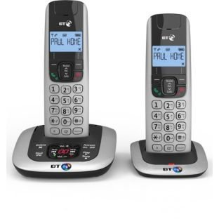 71d00c6d9 BT BT3520 TWIN Cordless Phone with Answering Machine (Hands Free  Functionality