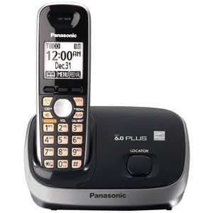 Panasonic KX-TG6511B DECT 6.0 PLUS Expandable Digital Cordless Phone, Black, 1 Handset with Mini Tool Box (fs)