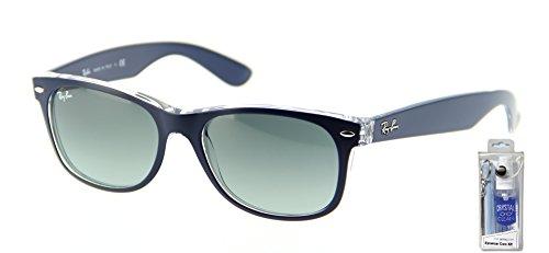Ray Ban RB2132 605371 55mm Matte Blue New Wayfarer Sunglasses Bundle - 2 - Wayfarer Ray Ban 2