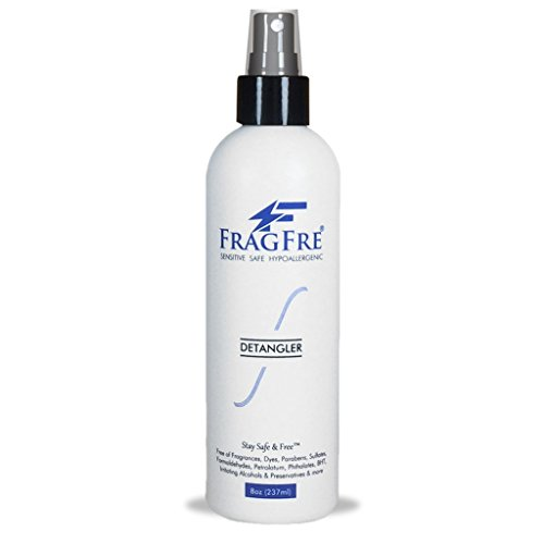 FRAGFRE Hair Detangler: Styling Heat Protectant Spray - Leave in Conditioner for Sensitive Skin - Fragrance Free Sulfate & Parabens Free - Hypoallergenic 8 oz - Gluten Free Vegan Cruelty Free by FRAGFRE (Image #1)
