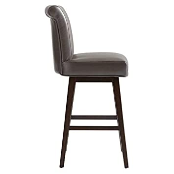 Sunpan Modern 74921 Hamlet Leather Swivel Counter Stool, Brown