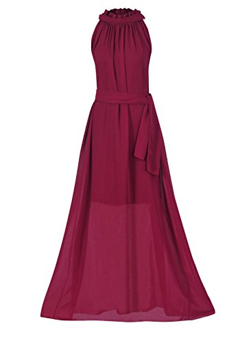 Womens Bohemian Dresses Chiffon Dresses Sleeveless Long Dress - 3