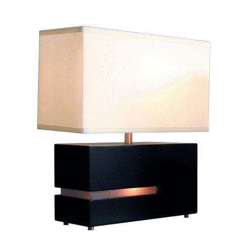 NOVA of California 0284DC Zen Table Lamp, One Size, Black/Silver/White