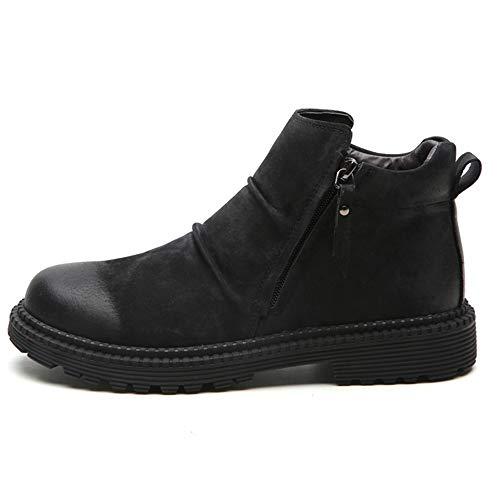 Lydee Mode Éclair Top Fermeture Hommes Noir Chaussures Hiver High rRCr5qw